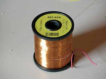 1600m long spool of thin bare copper wire