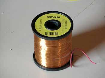 1600m long spool of thin bare copper wire