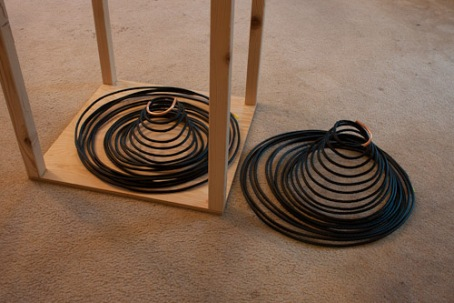 Pair of coils ready to be joined together